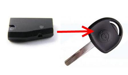 опель омега б снять чип ключ